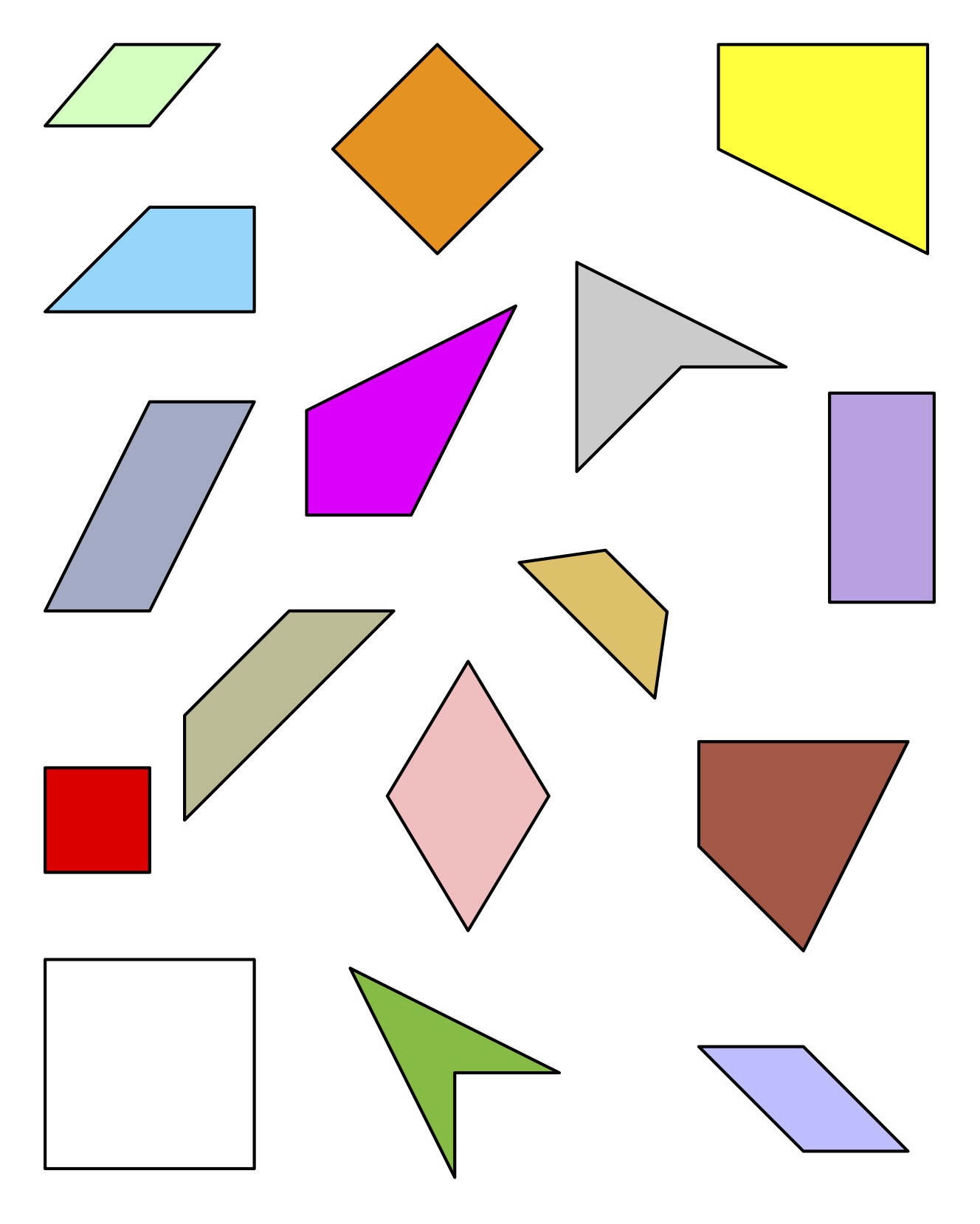 A lesson plan (of sorts) for quadrilaterals – Wonder in